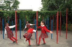 Immaculate Conception School Playscape, Katie Winter, New York City, 1997   Playscapes