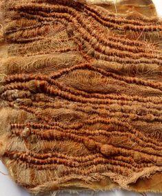 Julia Wright hand stitched, layered, rust dyed fabric