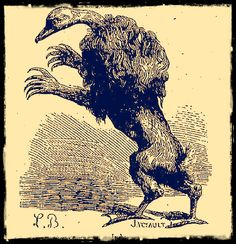 The demon Ipos as depicted in Collin de Plancy's Dictionnaire Infernal, 1863 edition.