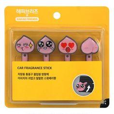 Kakao Talk Friends Cute Characters Car Vent Clip Air Freshener Stick Apeach…