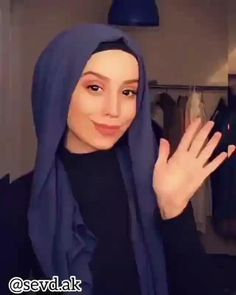 Turkish Hijab Tutorial, Simple Hijab Tutorial, Pashmina Hijab Tutorial, Hijab Style Tutorial, Hijab Turban Style, Mode Turban, Hijab Gown, Hijab Niqab, How To Wear Hijab