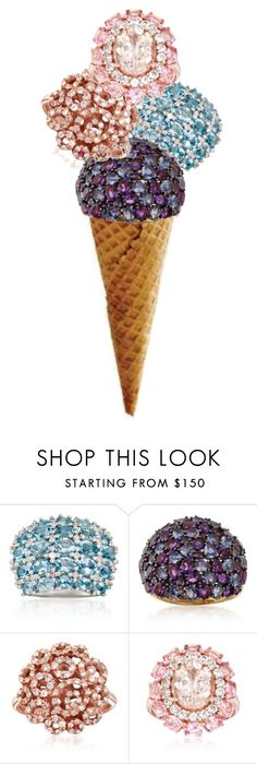 """""""Gemstone Ice Cream"""" by rosssimons ❤ liked on Polyvore featuring Ross-Simons and Roberto Coin"""