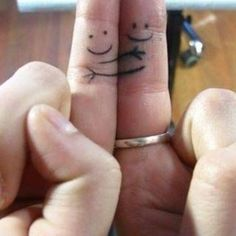 "This couple with a simple statement: | 17 Couple Tattoos That Will Make You Say ""Awww"""