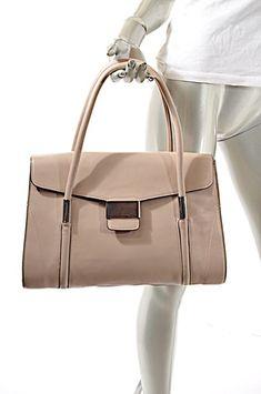 17e5588138aa L.K. Bennett Parchment Handbag W Polished Silver Hardware Beige Leather  Satchel. Save big on the