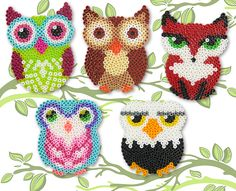 Owls, Birds and Fox Perler Project Pattern More