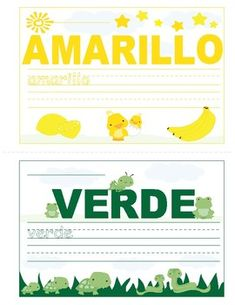 Colors in Spanish ~ Los Colores ~ Mini Booklet This Mini Booklet is designed for children who are learning the color names in Spanish. Spanish Names, Spanish Worksheets, Color Names, Booklet, Learning, Children, Mini, Colors, Design