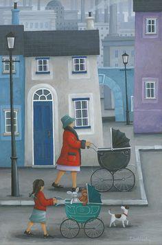 Peter Adderley Photograph - Like Mother Like Daughter by MGL Meiklejohn Graphics Licensing Landscape Illustration, Illustration Art, Naive Art, Mother And Child, New Artists, Artist Art, Illustrations, Art Journals, Home Art