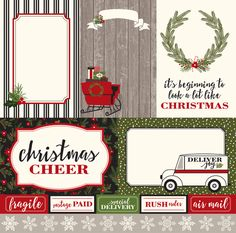 4x6 Journaling Cards Paper - Christmas Delivery - Carta Bella