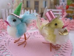 I remember festive little chicks like this in my Easter basket as a child!                                                                                                                                                     More