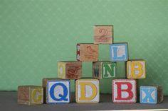 Vintage Wood Baby Blocks  Excellent Condition  by nanaandcompany, $25.00