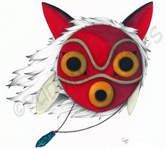 princess mononoke mask tattoo - Google Search