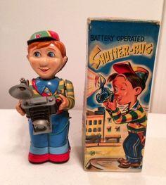 Nomura Smiling Shutter Bug Battery Tin Toy from 50s ebay
