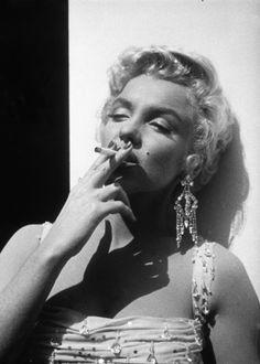 Marilyn enjoying a sultry smoke