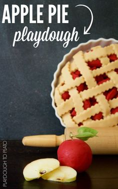 Soft and squishy apple pie playdough recipe. Awesome homemade playdough for fall!