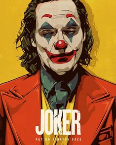 Da devin doty illustrator put on a happy face finished! whos excited for this movie i think joaquin phoenix is an amazing actor and will do the joker justice gemie dnyoruz! Le Joker Batman, Der Joker, Joker Und Harley, Gotham Batman, Batman Art, Batman Robin, Harley Quinn, Joaquin Phoenix, Joker Poster