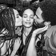 Pin for Later: Zoë Kravitz's New Boyfriend Looks Distractingly Like Her Dad, Lenny Zoë Kravitz, Lisa Bonet, and Lenny Kravitz
