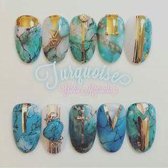 Modern Nail Art Designs that Are Too Cute to Resist Stone Nail Art, Marble Nail Art, Fancy Nails, Cute Nails, Sculpted Gel Nails, Quartz Nail, Nailart, Modern Nails, Japanese Nail Art