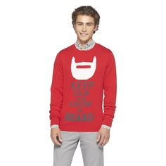 Mossimo Supply Co. Ugly Sweater Party, Ugly Christmas Sweater, Hipster Man, Mossimo Supply Co, Red Sweaters, Make Me Smile, Santa, Graphic Sweatshirt, Sweatshirts