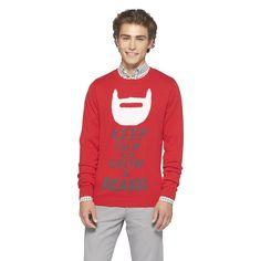 Mossimo Supply Co. Ugly Sweater Party, Ugly Christmas Sweater, Hipster Man, Mossimo Supply Co, Red Sweaters, Make Me Smile, Graphic Sweatshirt, Sweatshirts, Santa