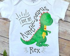 Aunt shirt, AuntieSaurus Rex, Aunt Gift, Aunt Baby Bodysuit, Funny Baby shirt, Auntie shirt, Nephew Gift, Cute Baby Clothes, Cute Baby Gifts