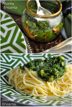 Molho Pesto Genovês, olhas de manjericão amassadas com azeite, pinoles, queijo peccorino e sal. Tem fácil e rápido preparo, não faz uso de fogão