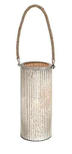 Deco 79 28874 Glass Rope Candle Votive