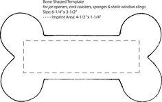dog bone template printable