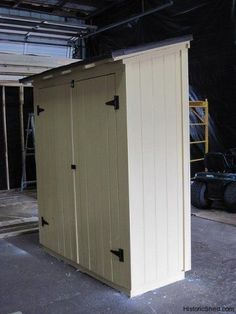 Garden tool storage shed products Ideas for 2019 Garden Tool Shed, Garden Storage Shed, Outdoor Storage Sheds, Storage Shed Plans, Outdoor Sheds, Garden Sheds, Carport Storage, Kayak Storage, Easy Storage