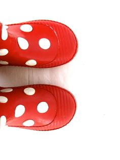 Vintage Rubberboots Rain Boots Kids Boots Girl Boots Red Boots Polka Dot Boots Shoes Brand Shoes