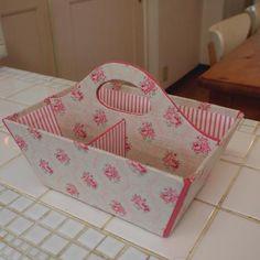 英国 Kate Forman のリネンの布で整理かご♪ - 文鳥日記