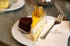 Passionfruit cake, cafe demel, Vienna