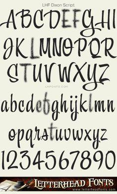 Letterhead Fonts / LHF Dixon Script font / Hand-lettered Scripts