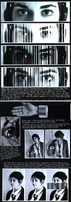 Barcode portraiture sketchbook Top in New Zealand for A Level Photography Distortion Photography, A Level Photography, Figure Photography, Photography Projects, Book Photography, Amazing Photography, Street Photography, A Level Art Sketchbook, Sketchbook Layout