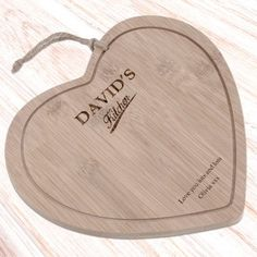 Personalised Wooden Heart Board - Couples Names Engraved Wedding Gifts, Wedding Gifts For Bride And Groom, Personalized Wedding Gifts, Personalised Gift Shop, Personalized Christmas Gifts, Christmas Gifts For Him, Wooden Hearts, Board, Kitchen