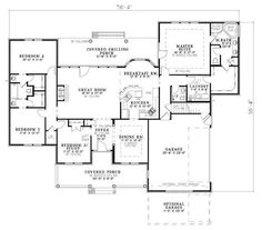 Country Style House Plan - 4 Beds 3 Baths 2252 Sq/Ft Plan #20-2041 ...