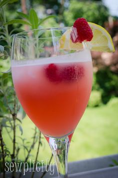 Raspberry lemonade.  So easy and delicious.  Didn't have enough raspberries so added some strawberries.  Also put in mint leaves when making simple syrup.  I loved it. PL(p.s. made it again w/ only raspberries.  Liked it better w/ the mix of strawberries.)