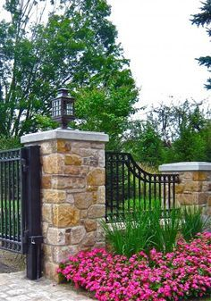 Wrought iron and rock