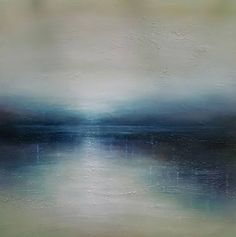 "Saatchi Art Artist louise fairchild; Painting, ""Blue Horizon"" #art"