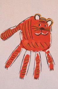 Zoo hand prints - tiger