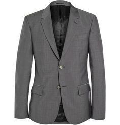 Alexander McQueen Grey Slim-Fit Wool And Mohair-Blend Suit Jacket | MR PORTER