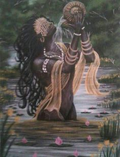 Oshun Goddess, Goddess Art, Black Goddess, African Mythology, African Goddess, Black Love Art, Black Girl Art, African American Art, African Art