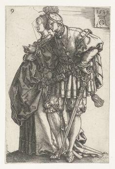 Dansend paar, Heinrich Aldegrever, 1538