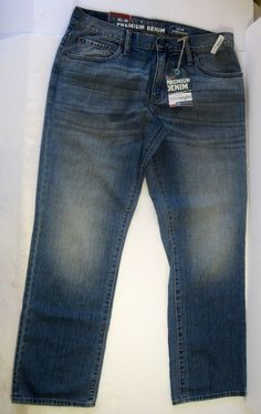 Old Navy Slim Straight Women Blue Jeans Pants Size 32 X 30 Premium Denim NWTS #OldNavy #SlimStraight