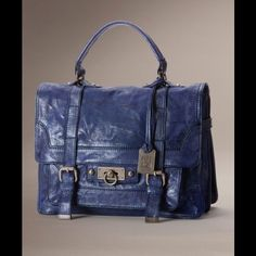 NWT small Cameron satchel iris - price firm Last picture is for size reference. Brand-new with tag. Frye Bags Satchels