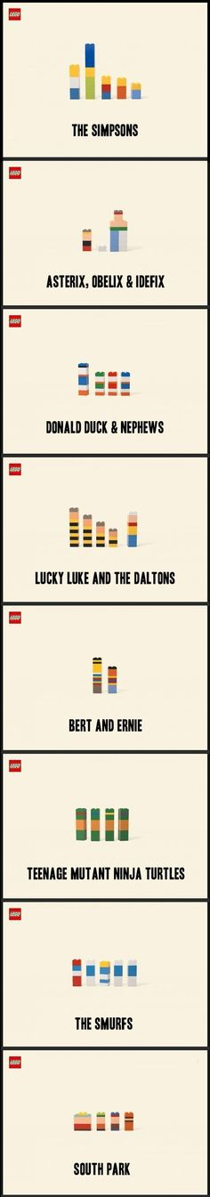 minimalist Lego figures