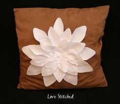 Felt Flower Pillow Tutorial - Love Stitched