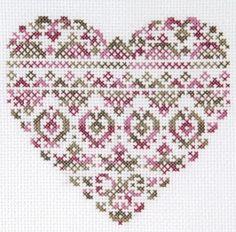 O Blog da DMC: Coração em ponto de cruz com Coloris