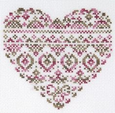 The DMC Blog: Heart on Cross Stitch with Coloris