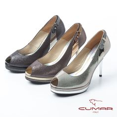 2980-未來感美學 金屬光感皮革魚口高跟鞋-咖啡色 - Yahoo!奇摩購物中心 Yahoo, Peeps, Peep Toe, Shoes, Fashion, Moda, Zapatos, Shoes Outlet, Fashion Styles