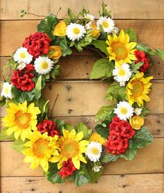 Sunflower Wreath ~ S